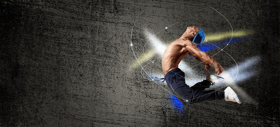 Balance Jump-Trainer Ausbildung: Koordinationstraining auf dem Trampolin.